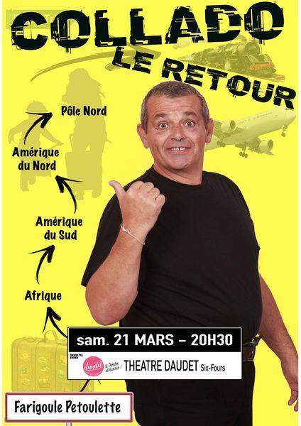"""Spectacle Eric Collado """"Le Retour"""" à Six-Fours-les-Plages - 0"""