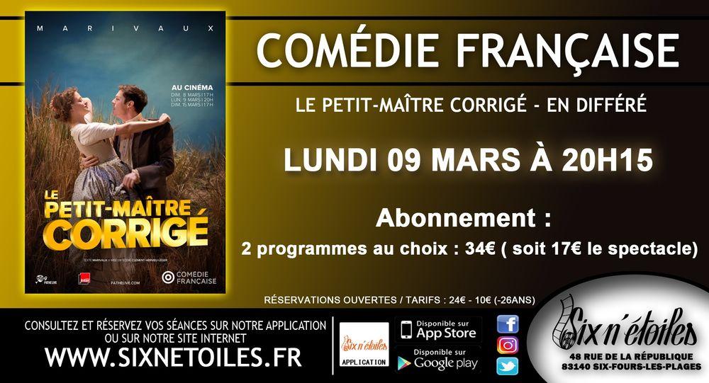 """Comédie Française en direct """"Le Petit Maître corrigé"""" à Six-Fours-les-Plages - 0"""