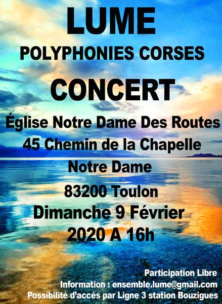 Concert – Lume Polyphonies Corses à Toulon - 0