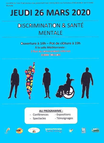 Les GEM de l'aire toulonnaise présentent : Discrimination & santé mentale à Toulon - 0