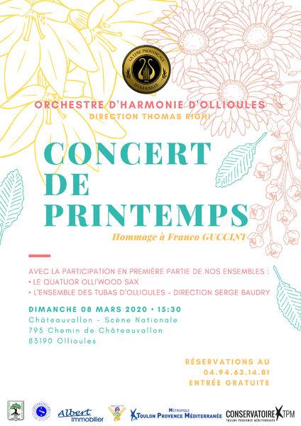 Concert de Printemps de l'orchestre d'harmonie de la Lyre Provençale d'Ollioules à Ollioules - 0