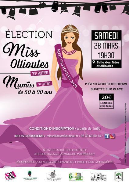 33è édition de Miss Ollioules & 4è édition de Mamiss (de 50 à 90 ans) à Ollioules - 0