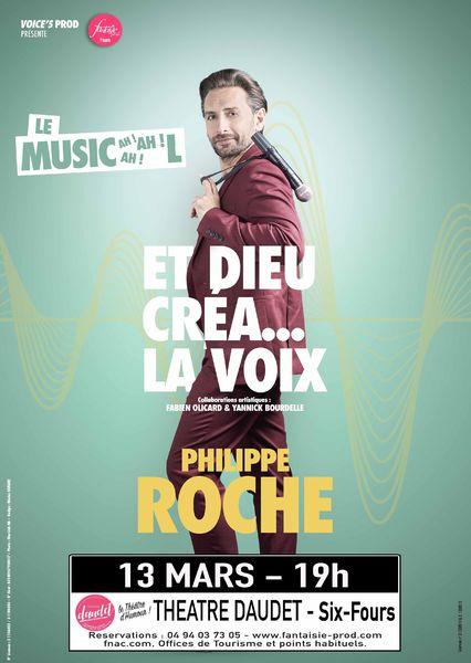 """Spectacle d'humour musical """"Et Dieu créa la voix"""" de Philippe Roche à Six-Fours-les-Plages - 0"""