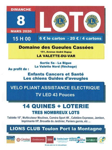 Loto du Lions Club Toulon Port La Montagne à La Valette-du-Var - 0