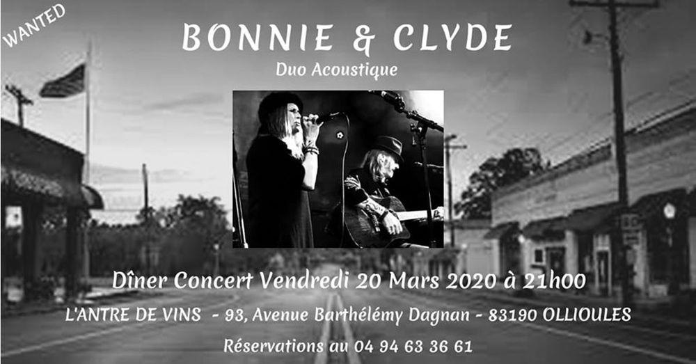 Dîner concert avec Bonnie and Clyde à Ollioules - 0