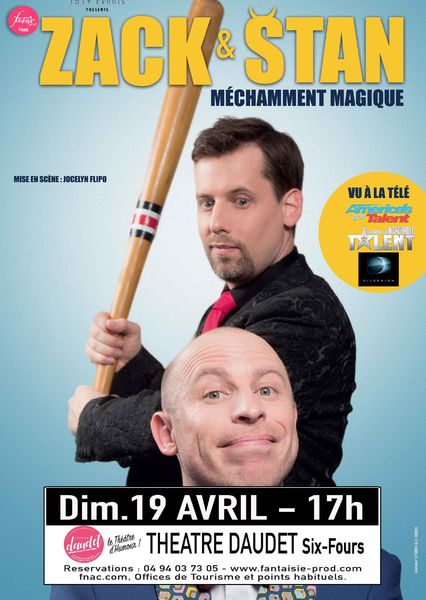 "Cancelled and postponed: ""Méchamment magique"" show with Zack & Stan à Six-Fours-les-Plages - 0"