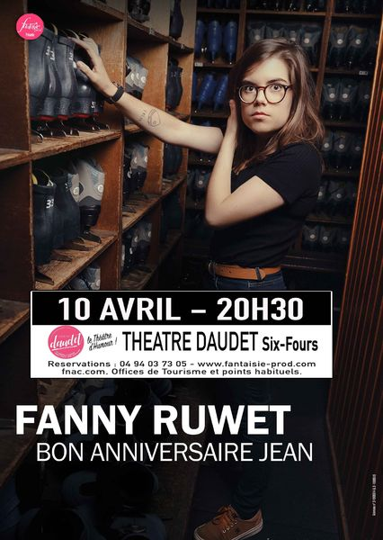 """Cancelled and postponed: One woman show """"Happy Birthday Jean"""" by Fanny Ruwet à Six-Fours-les-Plages - 0"""