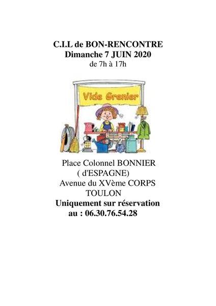 Annulé – Vide-grenier du CIL Bon Rencontre à Toulon - 1
