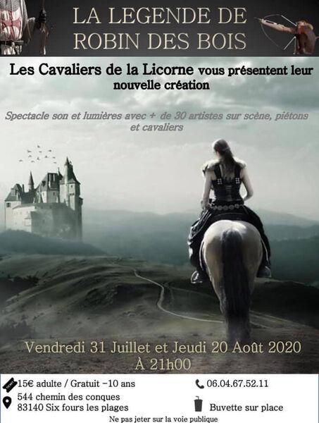 """Horse show """"The Legend of Robin Hood"""" à Six-Fours-les-Plages - 0"""