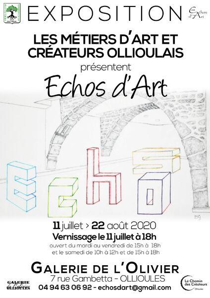 "Exhibition ""Echos d'Art"" by the craftsmen and creators of Ollioulais à Ollioules - 0"