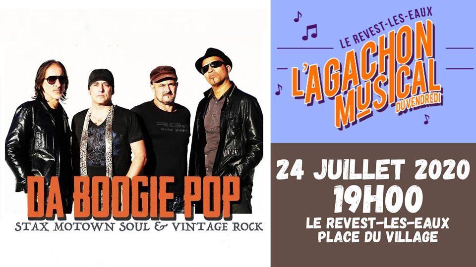 Concert – L'agachon musical du vendredi – Da boogie pop à Le Revest-les-Eaux - 0