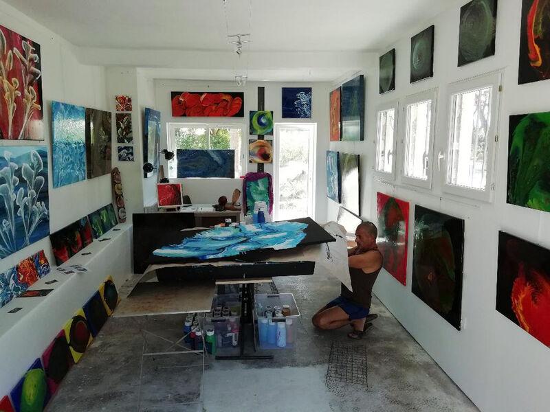 Fermé jusqu'à nouvel ordre : Visite de l'atelier galerie de Lorenzo Ciufici à La Seyne-sur-Mer - 0