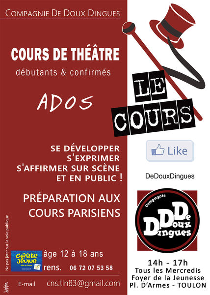Réunion d'information et inscriptions aux cours de théâtre Cie De Doux Dingues à Toulon - 1