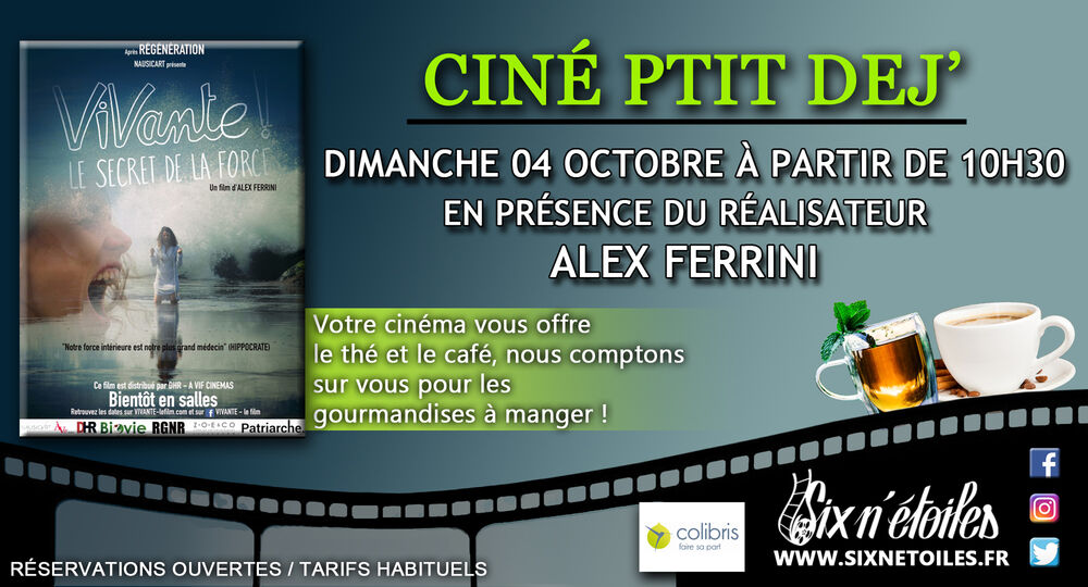 "Breakfast cinema ""Vivante!"" in the presence of Alex Ferrini, director of the film à Six-Fours-les-Plages - 0"