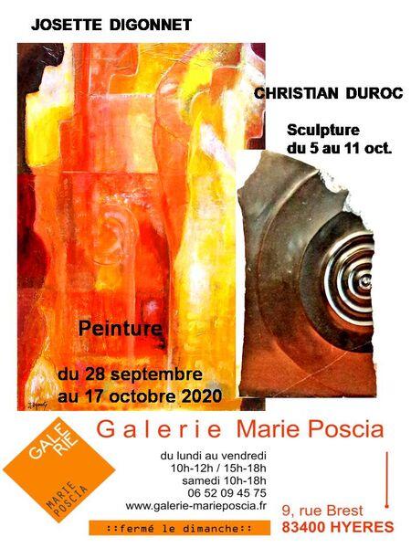 Exposition de peintures et sculptures à la galerie Marie Poscia à Hyères - 0