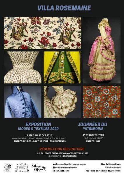 Exposition « Modes & textiles » 2020 à Toulon - 0