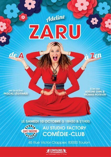 Spectacle – Adeline Zaru « De A à … Zen » à Toulon - 0