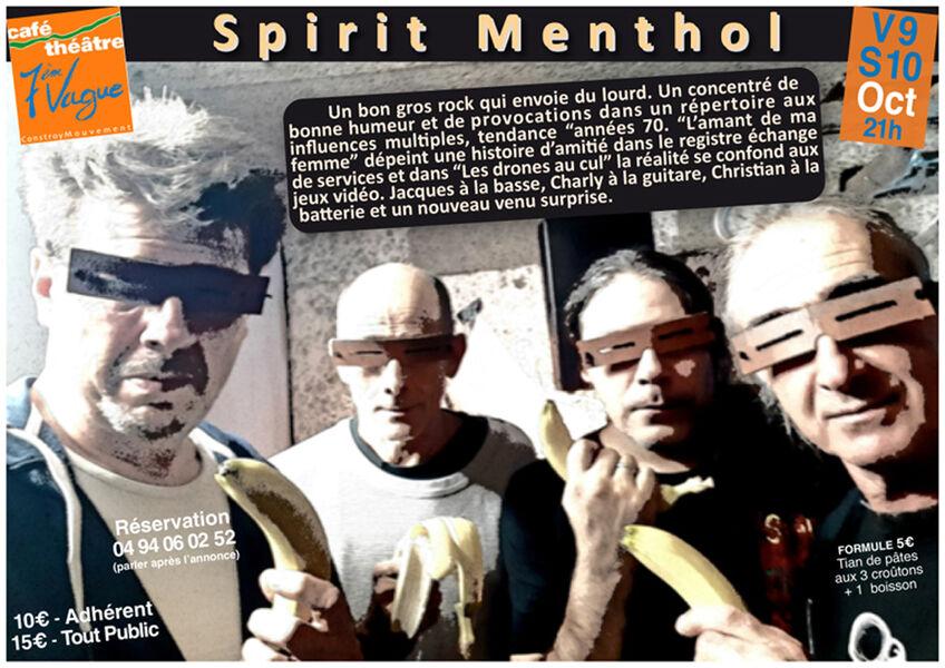 Annulé : Musique à l'affiche avec Spirit Menthol (rock punk français) à La Seyne-sur-Mer - 0