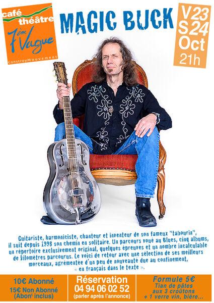 Annulé : Musique à l'affiche avec Magic Buck (Blues) à La Seyne-sur-Mer - 0