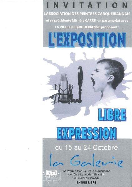 """Exposition de Peintures – """"Libre Exposition"""" à Carqueiranne - 0"""