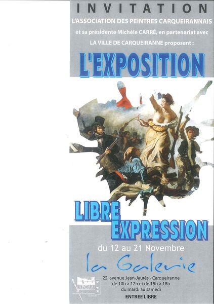 """Exposition de Peintures – """"Libre Expression"""" à Carqueiranne - 0"""