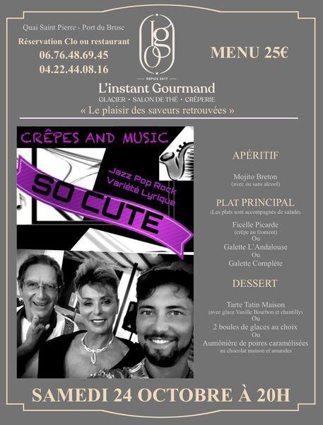 Crêpes and Music : soirée musicale jazz pop rock et variété lyrique à Six-Fours-les-Plages - 0