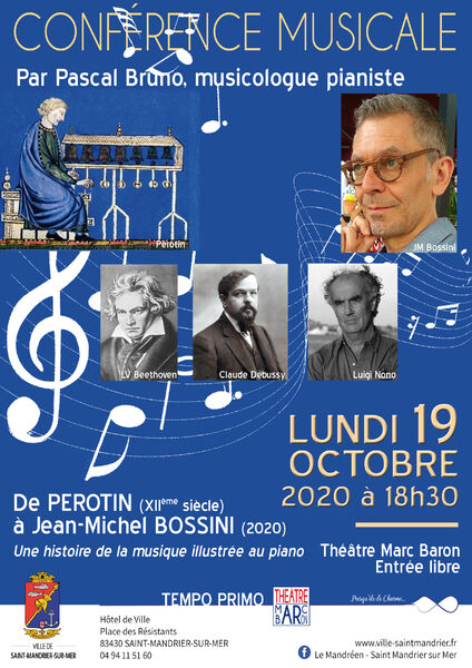Musical conference: from Perotin to Jean-Michel Bossini à Saint-Mandrier-sur-Mer - 0