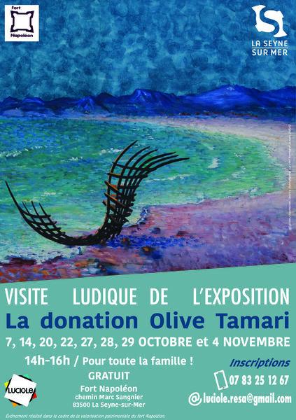"""Visite ludique de l'exposition """"Olive Tamari, la Donation"""" à La Seyne-sur-Mer - 0"""