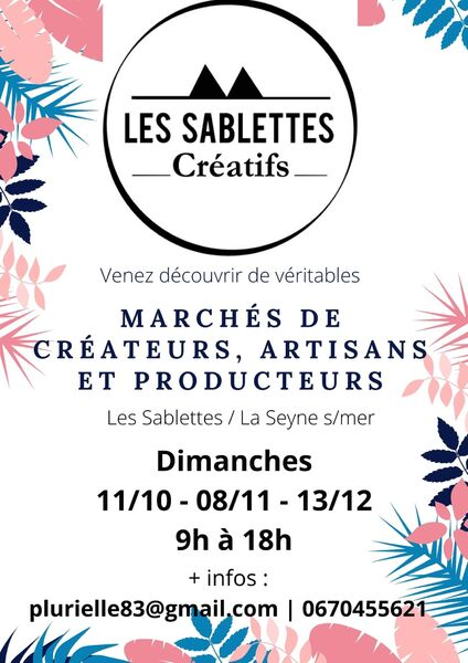 Les Sablettes créatifs : marché créateurs, artisans et producteurs à La Seyne-sur-Mer - 0
