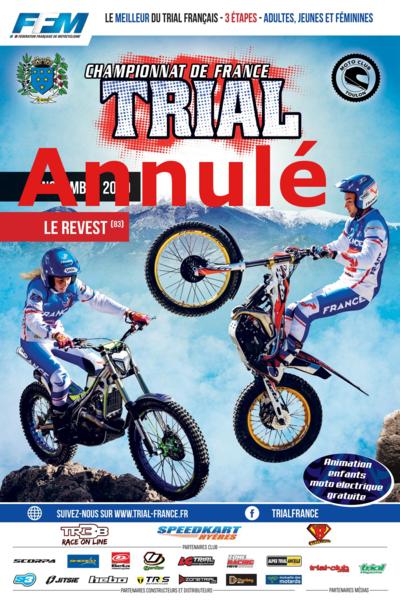 Annulé – Finale championnat de France Trial à Le Revest-les-Eaux - 0