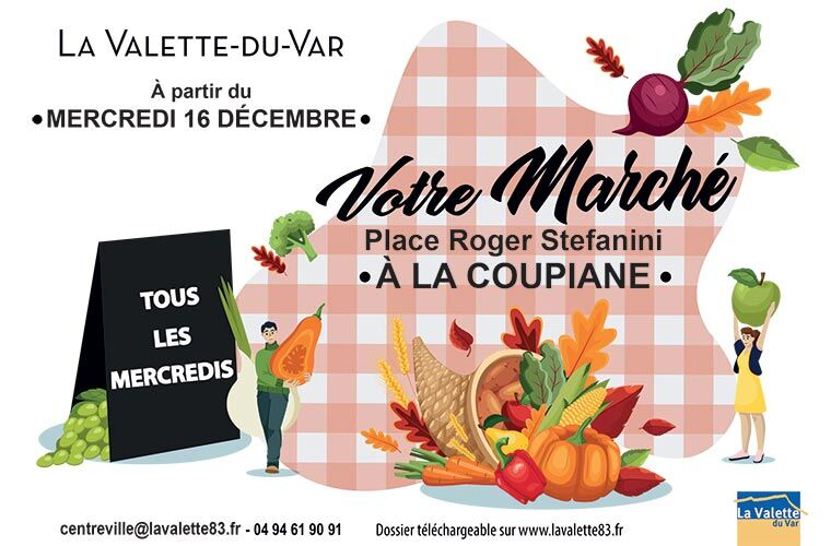 Marché de la Coupiane à La Valette-du-Var - 0