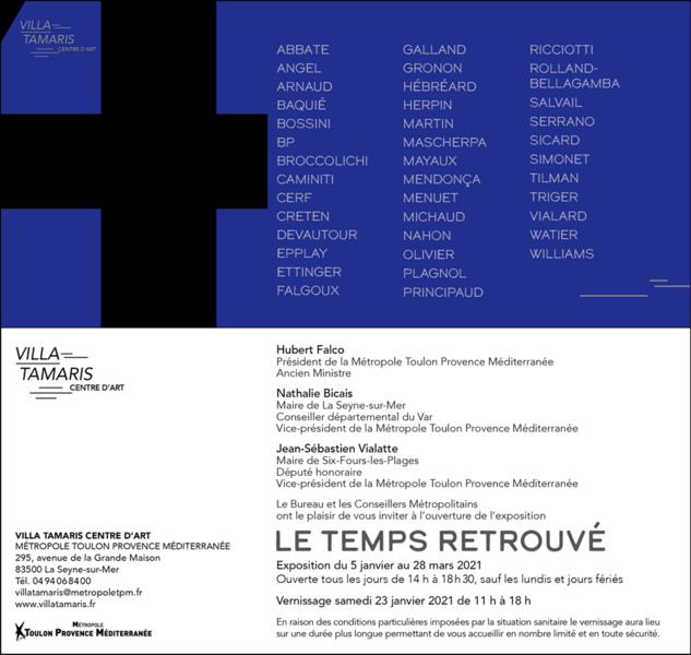 """Closed until further notice: Exhibition """"Time regained"""" à La Seyne-sur-Mer - 0"""