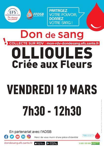 Blood donation à Ollioules - 0