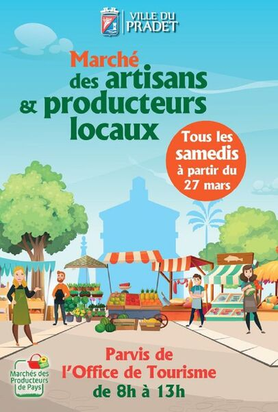 Marché des artisans et producteurs locaux : samedi à Le Pradet - 0