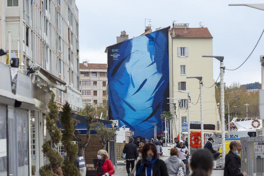 Théma Liberté #37 – Passion bleue / Art dans la ville – Fresque monumentale de Michael Beerens à Toulon - 0