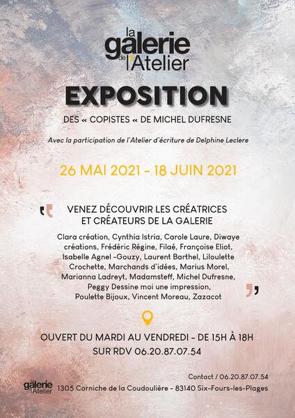 """Exhibition: """"Des copistes"""" by Michel Dufresne à Six-Fours-les-Plages - 0"""
