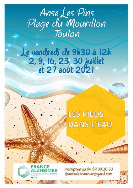 Accueil « Les pieds dans l'eau » France Alzheimer Var à Toulon - 0